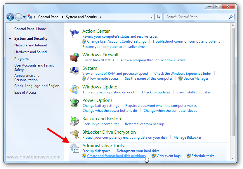 Create And Format Hard Disk Parions In Windows 7