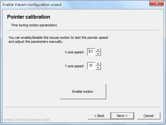Adjust pointer calibration manually