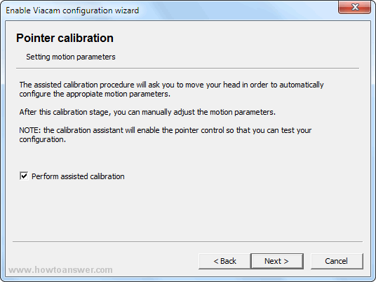 Pointer calibration