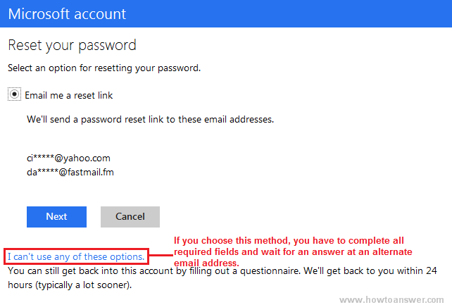 reset password ms access