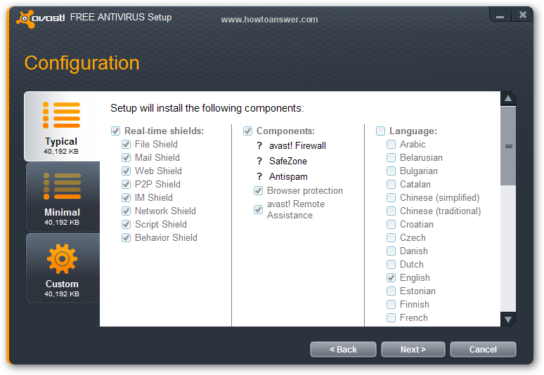 Setup Configuration for Avast Free Antivirus