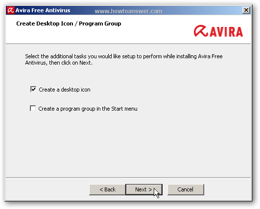 Create Desktop Icon for Avira