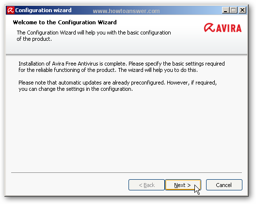 Welcome to Configuration Wizard