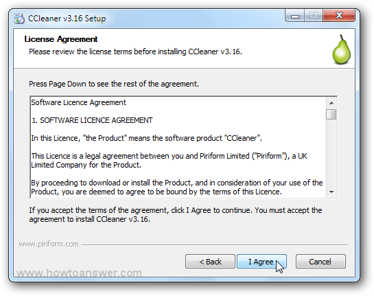 CCleaner License Agreement