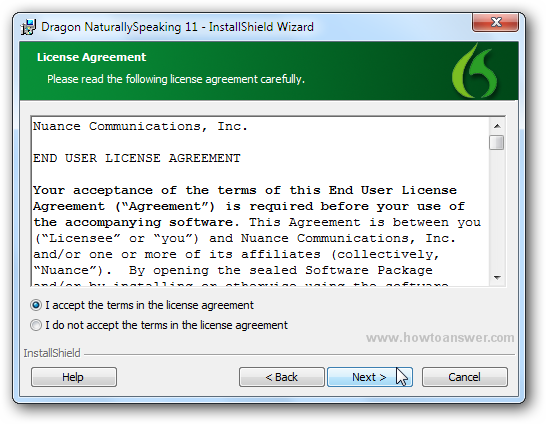 License Agreement for Dragon