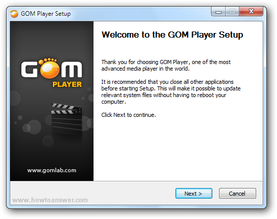 Welcome to GOM Player setup