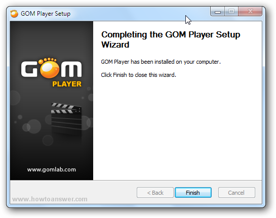 Gom Player has been installed