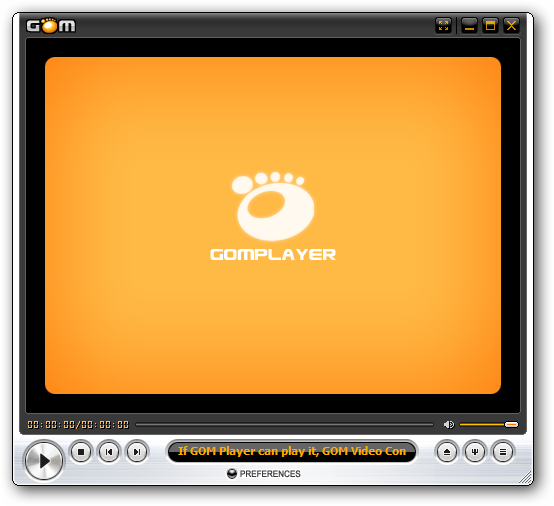 Gom Player software interface