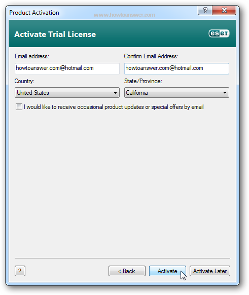 Nod32 Antivirus Activate trial license