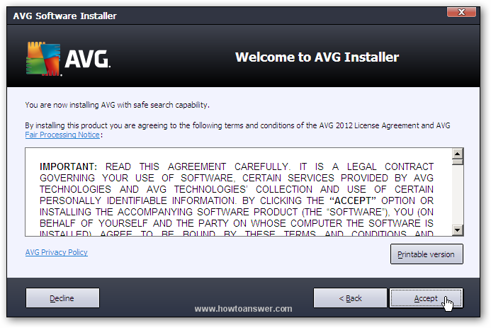 AVG License Agreement