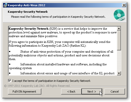Kaspersky Security Network Agreement