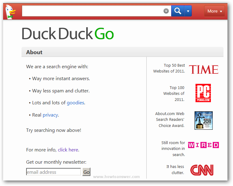 DuckDuckGo About page