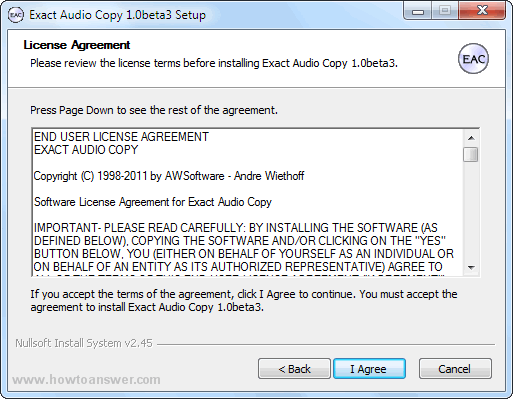 EAC License Agreement