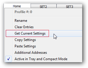 Add current settings from your network to a NetSetMan profile