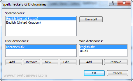 Spellcheckers and Dictionaries
