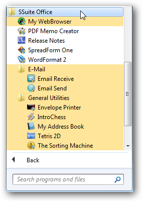 SSuite Office in Windows 7