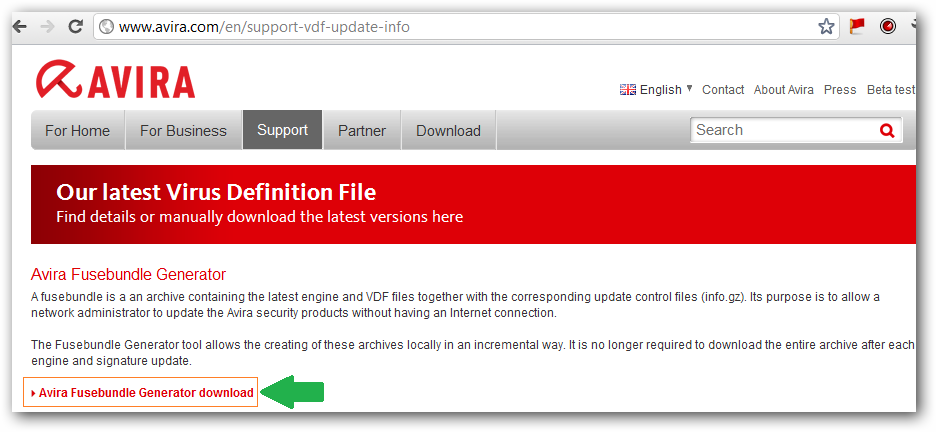 avira update vdf file 2013