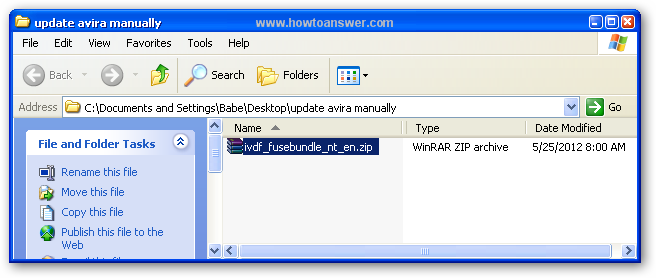 Update Avira Manually using Fusebundle Generator