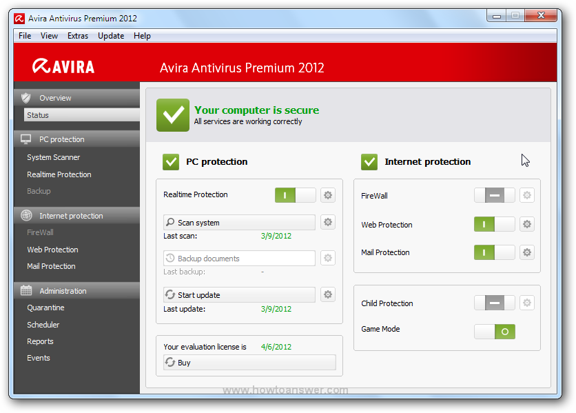 Cкачать бесплатно Avira Internet Security 2012 12.0.0.351 SP1 Final
