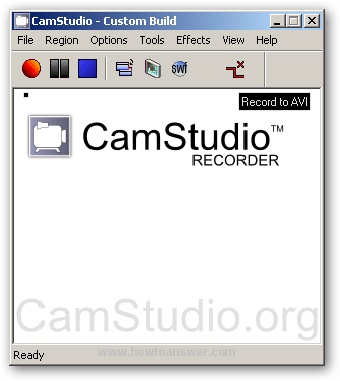 CamStudio software interface