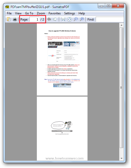 File created from two different PDF documents