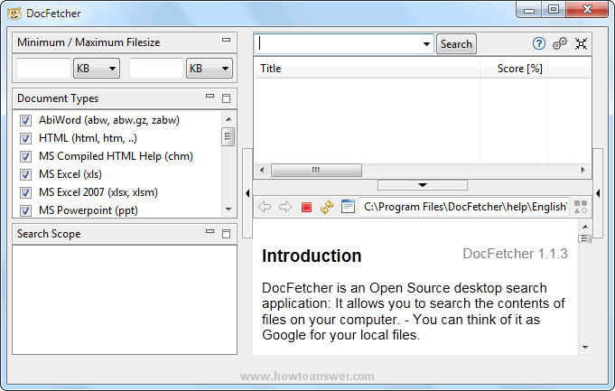DocFetcher interface