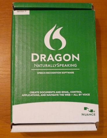 Dragon NaturallySpeaking Box