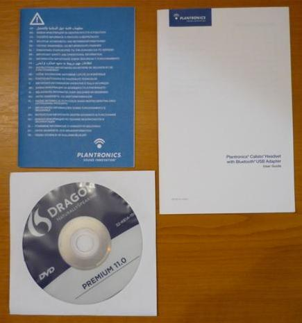 Dragon NaturallySpeaking DVD plus Plantronics user guide