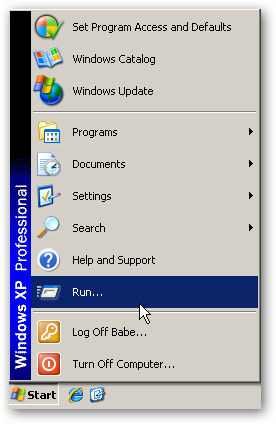 Windows Xp Start Menu