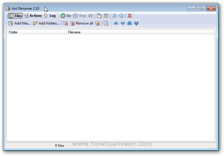 Ant Renamer software interface