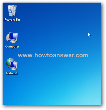 Computer, Network and Recycle Bin icons on a Windows 7 desktop