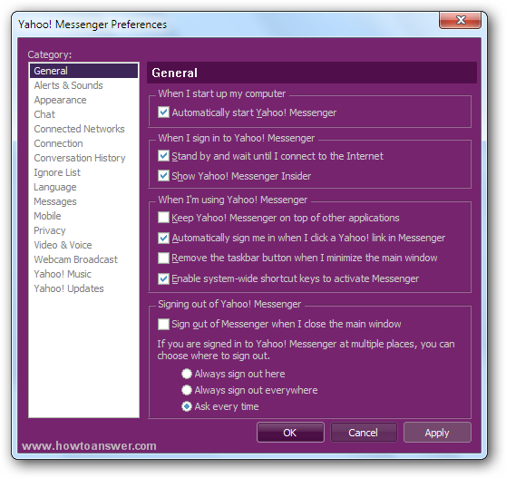 Yahoo Messenger interface window